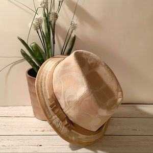 {Coach} Women's Signature CC Fedora Hat *NEW*